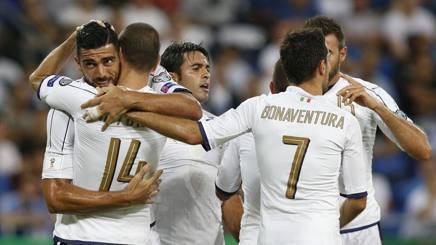 Israele-Italia 1-3, Pellè-Candreva-Immobile, Ventura fa festa in 10