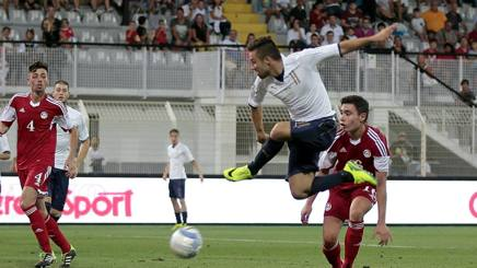 Federico Di Francesco, 22 anni, firma il primo dei due gol contro Andorra. Getty