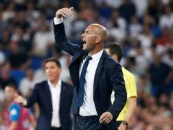 Zinedine Zidane, allenatore del Real Madrid. Reuters