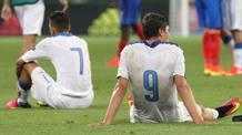 La delusione degli azzurrini dopo la sconfitta in finale contro la Francia AFP