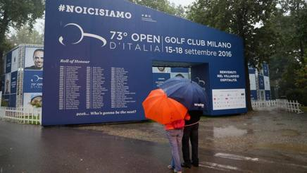 Golf, day-1: la pioggia rallenta l'avvio. tutto ritardato di 90'
