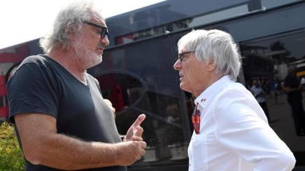 Flavio Briatore con Bernie Ecclestone. Ansa