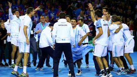 L'Argentina festeggia la finale di Davis a Glasgow