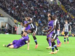 Il gol di Zapata. Ansa