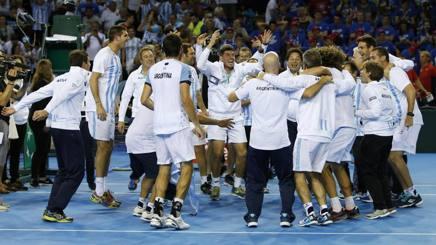 La festa argentina dopo la qualificazione alla finale 2016. Reuters