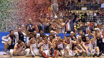La vittoria della Grissin Bon Reggio Emilia nella finale dell'anno scorso a Torino CIAMILLO