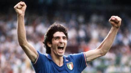Spagna 1982, Paolo Rossi esulta per la vittoria al Mondiale.