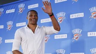 Russell Westbrook, 27 anni AP