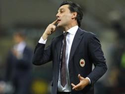 Il tecnico del Milan Vincenzo Montella. LaPresse