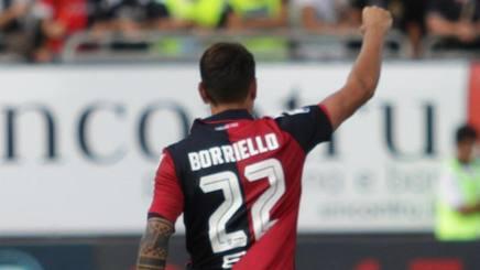 Marco Borriello, 7 gol al Sant'Elia in stagione. Ansa