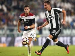 Marko Pjaca, 21 anni, in azione contro il Cagliari. LaPresse