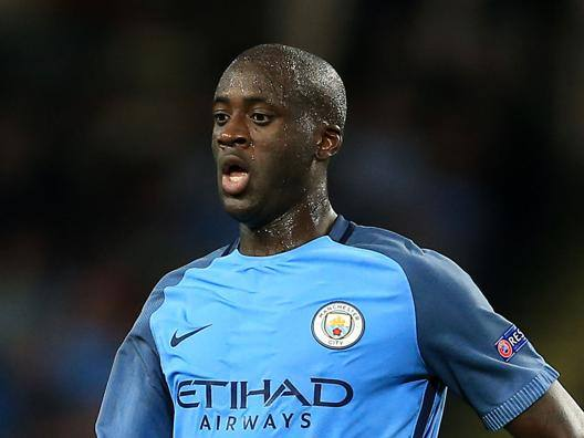 Yaya Toure, centrocampista del Manchester City. Lapresse