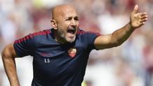 Il tecnico della Roma Luciano Spalletti. Afp