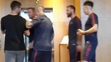 """Una foto """"rubata"""" al saluto di Pjanic ai suoi ex compagni"""