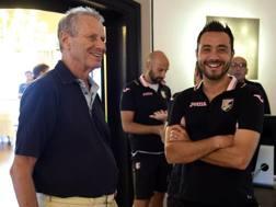 Maurizio Zamparini e Roberto De Zerbi. Getty
