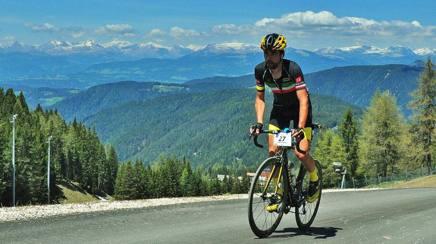 Omar Di Felice, 35 anni, sul suo terreno preferito, la montagna