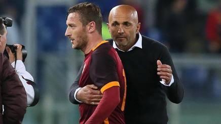 Francesco Totti, 39 anni, e Luciano Spalletti, 57 anni. Ansa