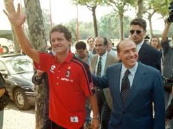 Fabio Capello con Silvio Berlusconi nel 1997. Ansa