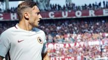 Francesco Totti, oggi 40 anni. Ansa
