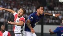 Memphis Depay in Europa League contro il Feyenoord. Afp