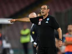 Il tecnico del Napoli Maurizio Sarri. Forte