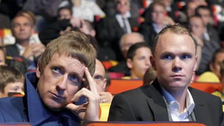 Bradley Wiggins e Chris Froome in un'immagine del 2012. Ap