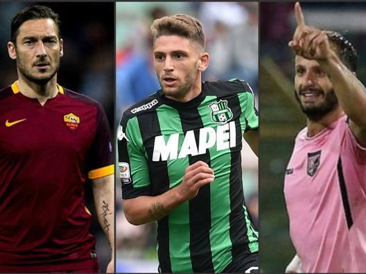 Totti, Berardi e Gilardino , veri bomber di Serie A