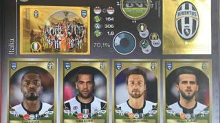 La pagina della Juve nell'album FIFA 365. Panini