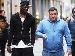 Mario Balotelli con Mino Raiola