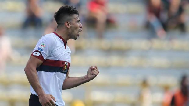L'esultanza di Simeone dopo il gol-partita. Ansa