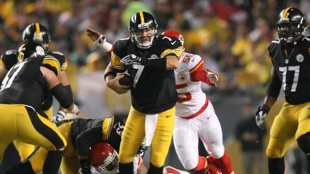 Ben Roethlisberger, quarterback dei Pittsburgh Steelers, nella gara vinta domenica su Kansas City REUTERS