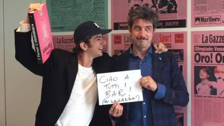 Francesco Mandelli, 37 anni, e Paolo Ruffini, 37, in Gazzetta