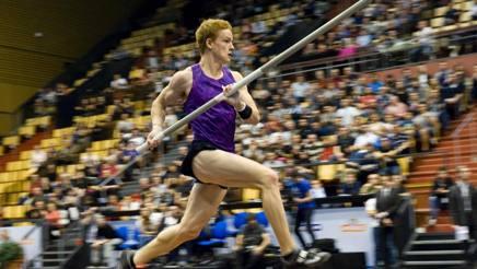 Shawn Barber, campione del mondo di salto con l'asta. Afp