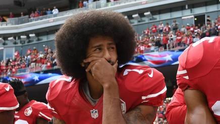 Colin Kaepernick dei 49ers. AFP