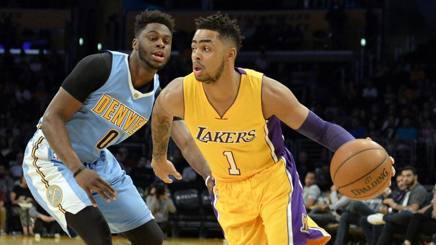Nba, Lakers-Denver 97-101: Russell fa il leader, ok Nurkic-Jokic, Gallinari riposa
