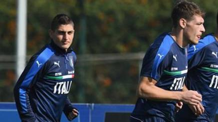 Verratti e Belotti in allenamento. Getty