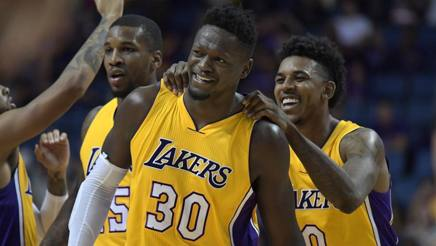 Nba preseason, i Lakers battono Denver: Russell ne mette 33, Gallo ok