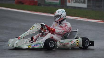 Sebastian Vettel in azione a Lonato