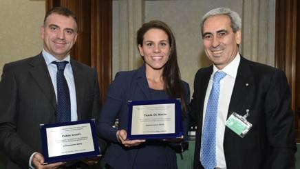 Tania Di Mario e Fabio Conti in Senato a Roma con Raffaele Chiulli presidente Safe