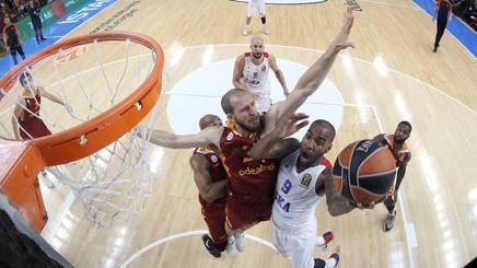 Entrata a canestro di Aaron Jackson, guardia del Cska, contro il Galatasaray GETTY