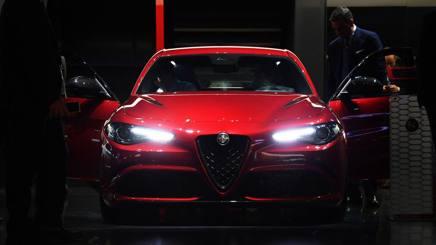 L'Alfa Giulia Quadrifoglio Verde. LaPresse