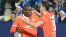 A sinistra, Khouma El Babacar, 23 anni, attaccante senegalese della Fiorentina. AFP