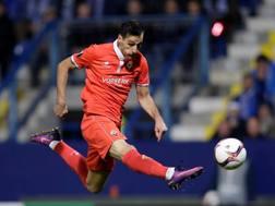Nikola Kalinic, 28 anni, con una doppietta al Liberec la porta in vantaggio la Fiorentina nel primo tempo REUTERS