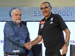 Aurelio De Laurentiis e Maurizio Sarri, ANSA