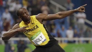 Usain Bolt, 30 anni, dopo il triplo oro a Rio. Ap
