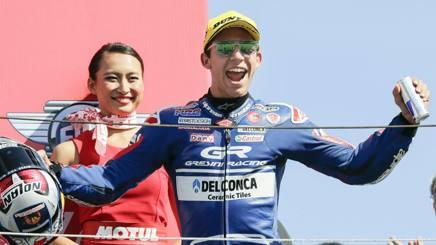 Enea Bastianini, attualmente secondo nel Mondiale Moto3. Epa
