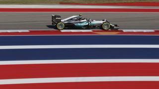Nico Rosberg in azione a Austin. Lapresse