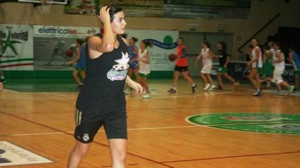 Alice Sabatini in allenamento con le Stelle Marine