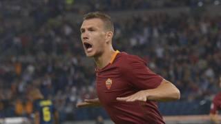 Edin Dzeko,attaccante della Roma. Getty