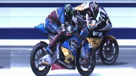 La volata persa da Morbidelli per 10 millesimi contro Luthi. MotoGP.com